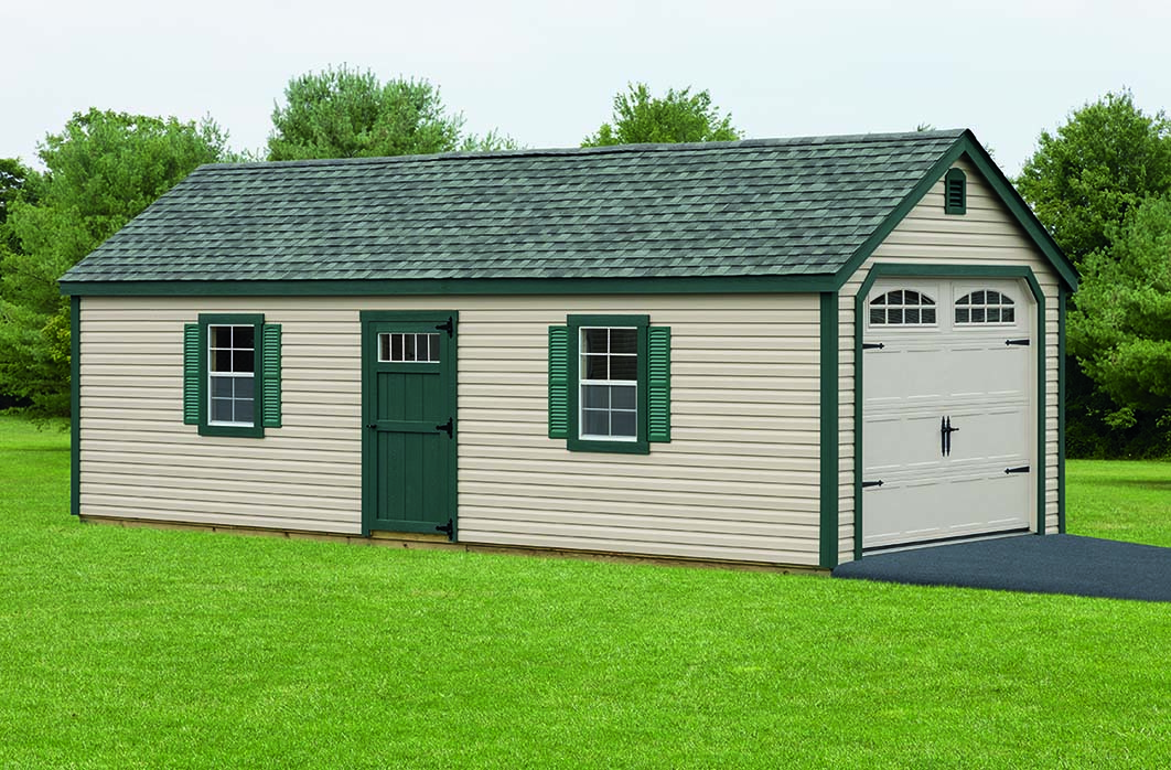 Sheds barns garages pine ridge barns for Colonial garage