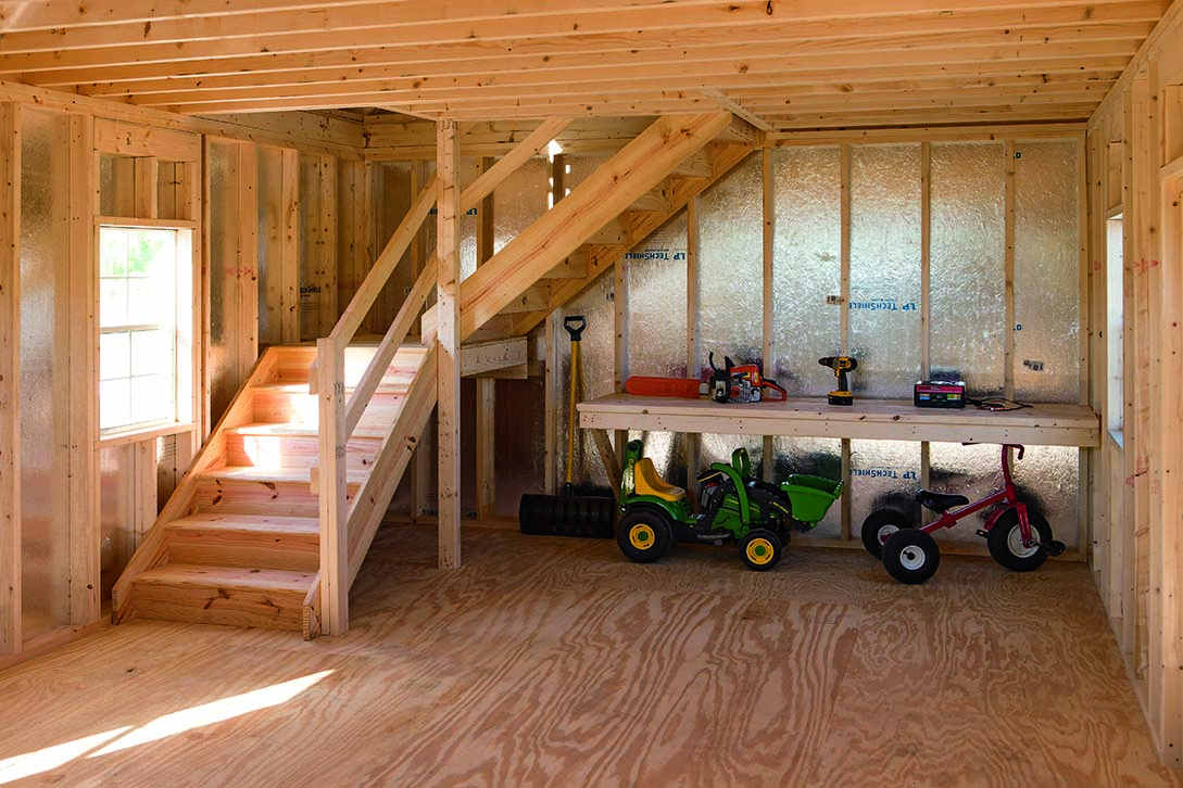 Sheds barns garages pine ridge barns for Two story two car garage