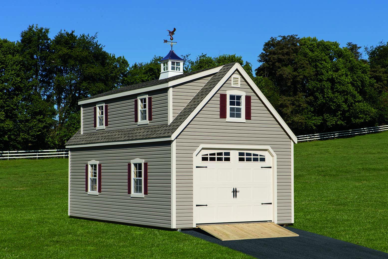 Sheds barns garages pine ridge barns for Shed with dormer
