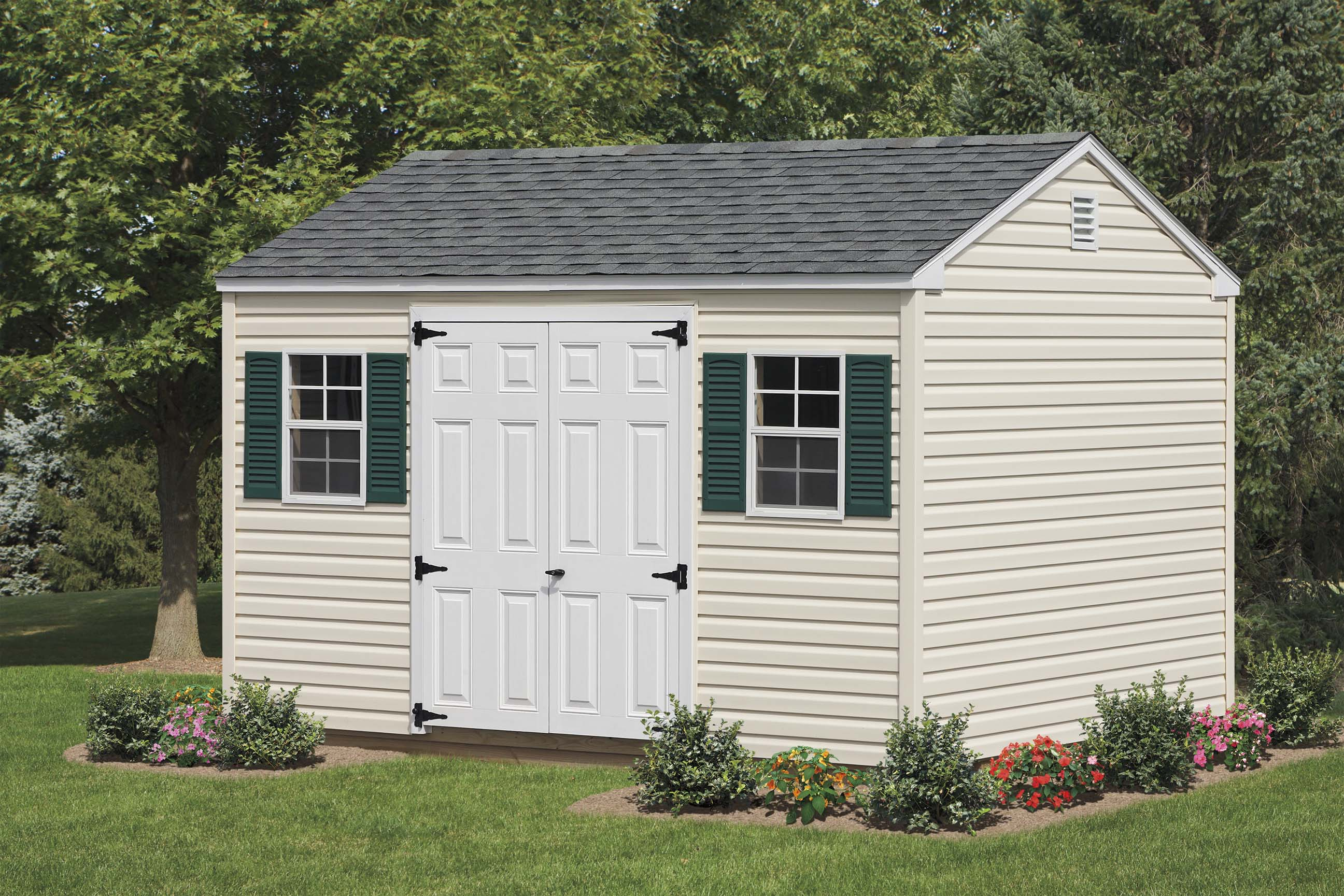 buildings truck with double and wall barn vinyl two deluxe windows storage sheds accessories doors leonard high sided panel