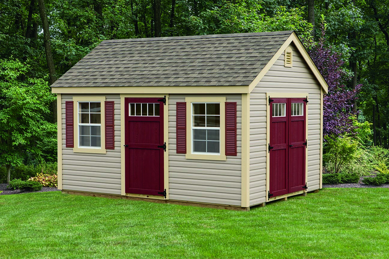 solutions storage shed vinyl sheds cedar classic craft