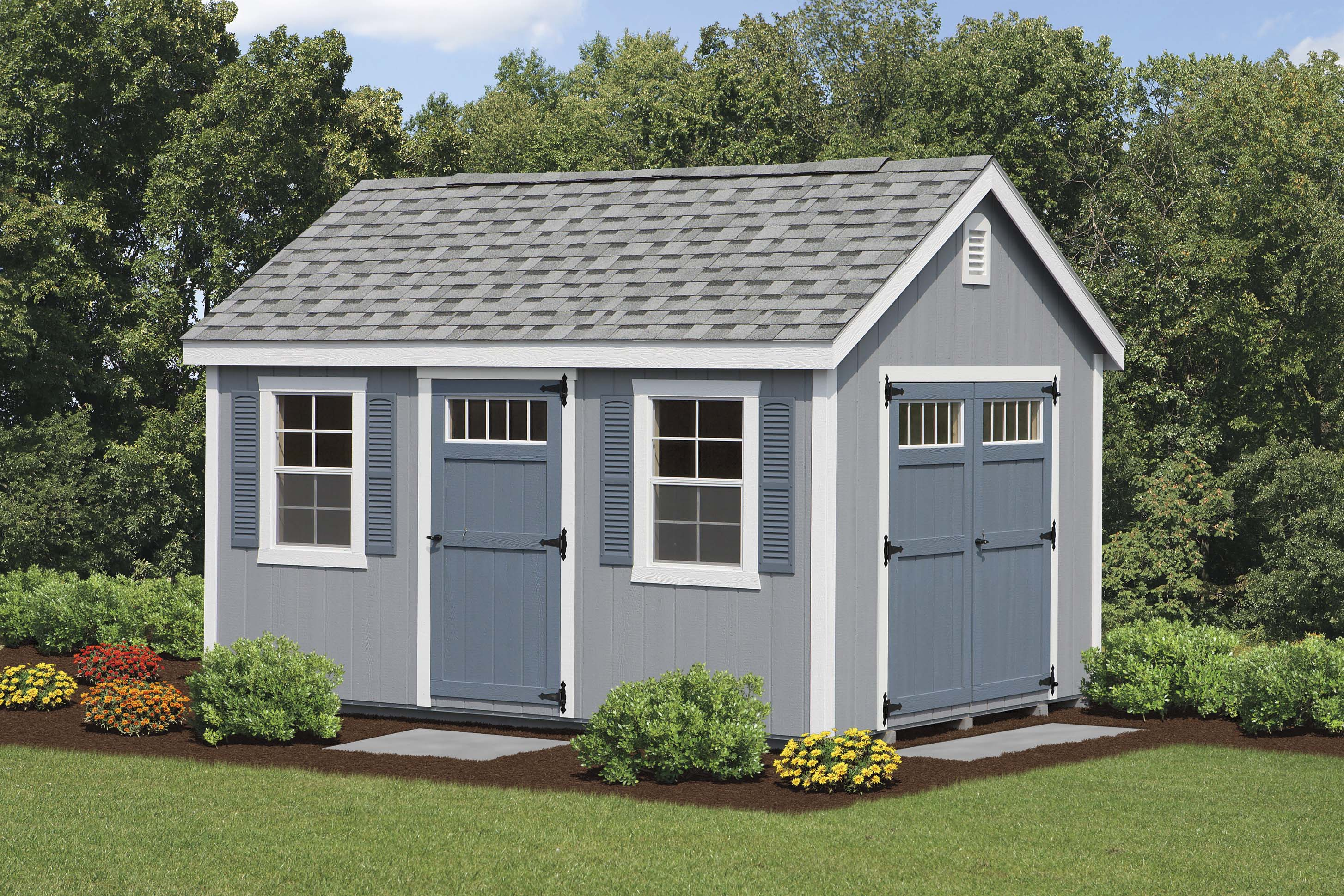 Sheds barns garages pine ridge barns for 10x14 garage door