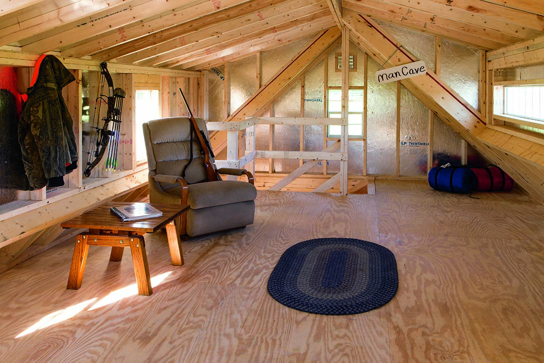 Sheds barns garages pine ridge barns for 24x24 cabin plans with loft